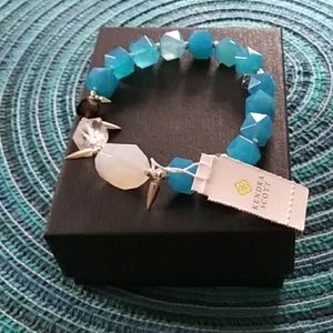 Kendra Scott blue white and crystal bracelet nwt